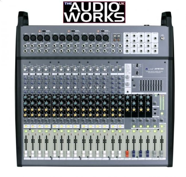 ALTO APM160 1500W POWERED MIXING DESK