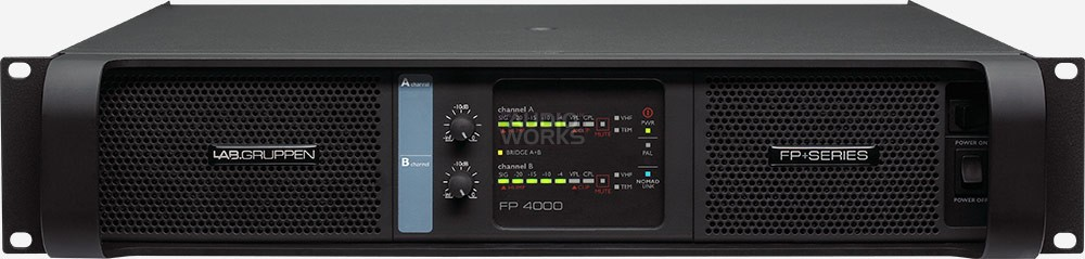 LAB GRUPPEN FP 4000 FP+ SERIES 4000W PROFESSIONAL POWER AMPLIFIER