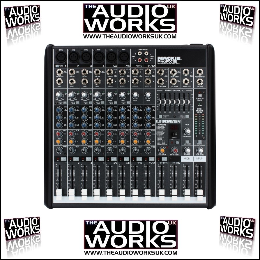 Mackie Pro Fx12 12ch Mixer With Effects Amp Usb The Audio