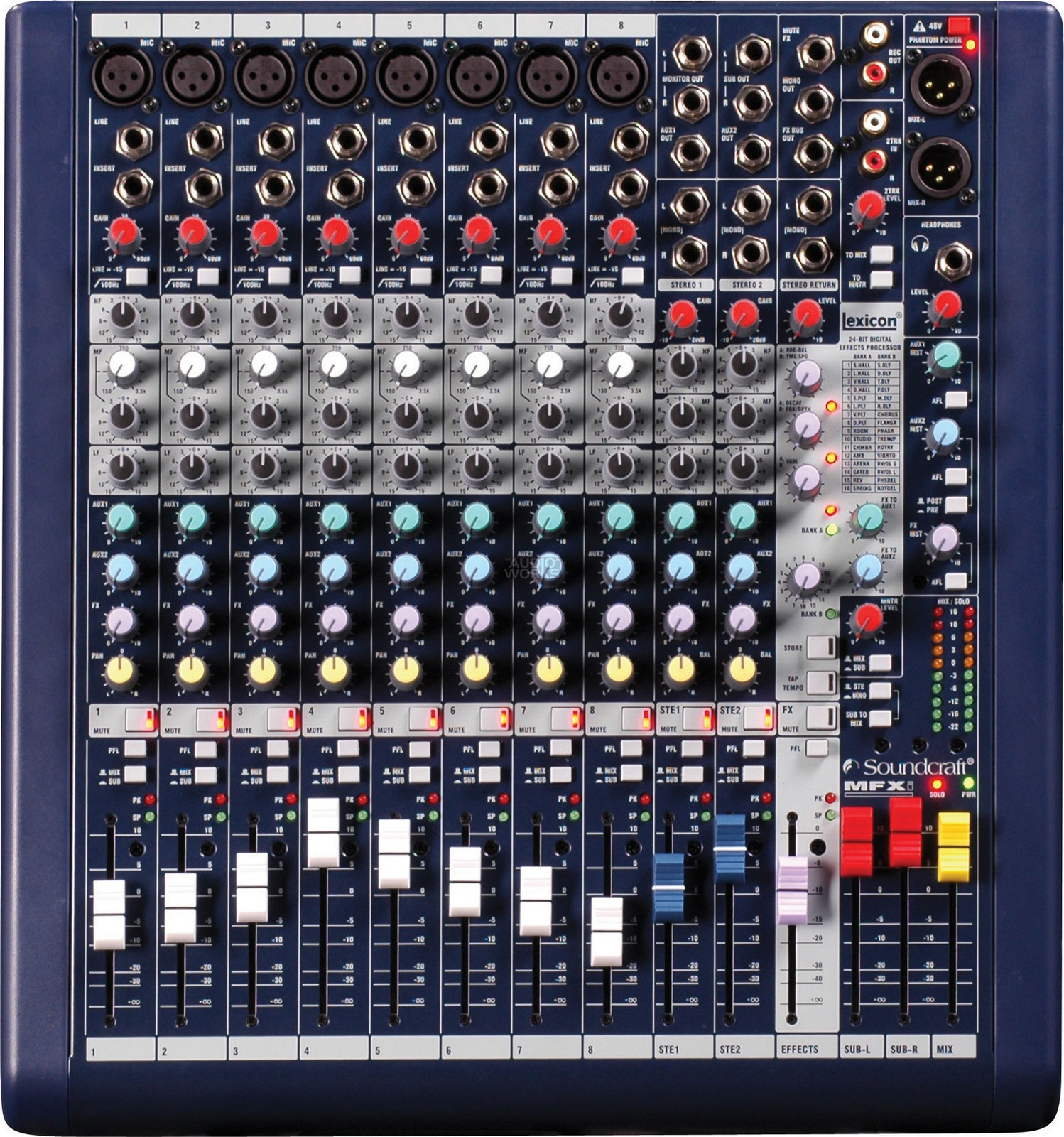 SOUNDCRAFT MFXi8 PROFESSIONAL 8CH EFFECTS MIXER