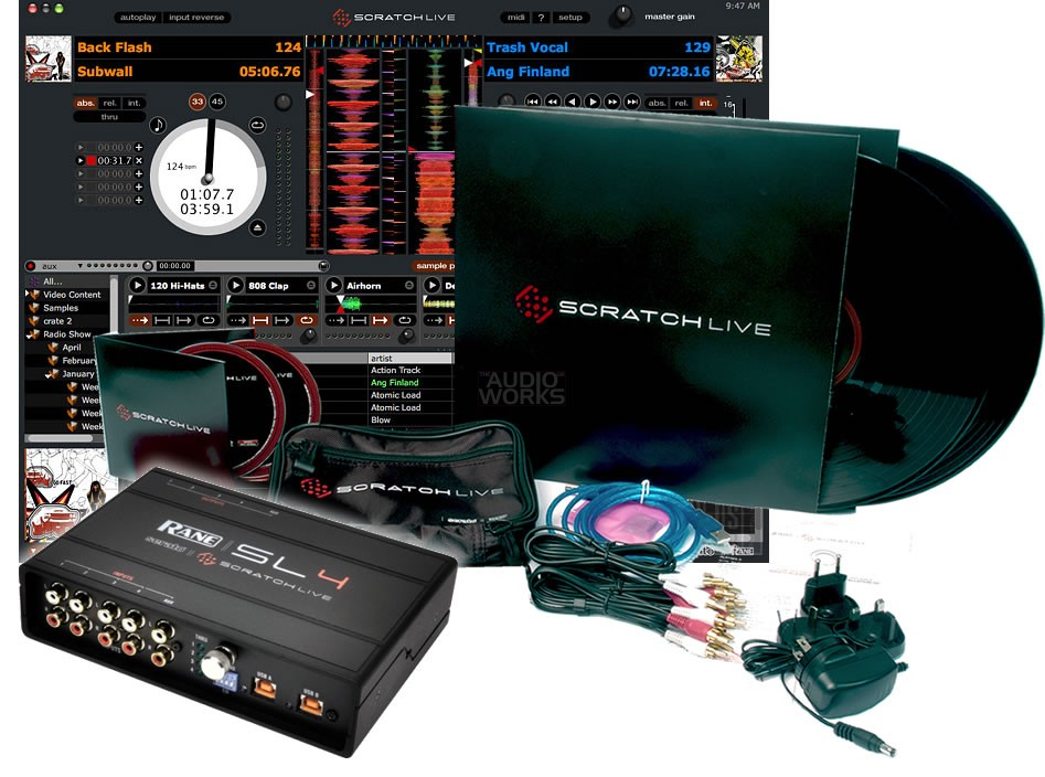 rane serato scratch live sl4 digital vinyl system audio works. Black Bedroom Furniture Sets. Home Design Ideas