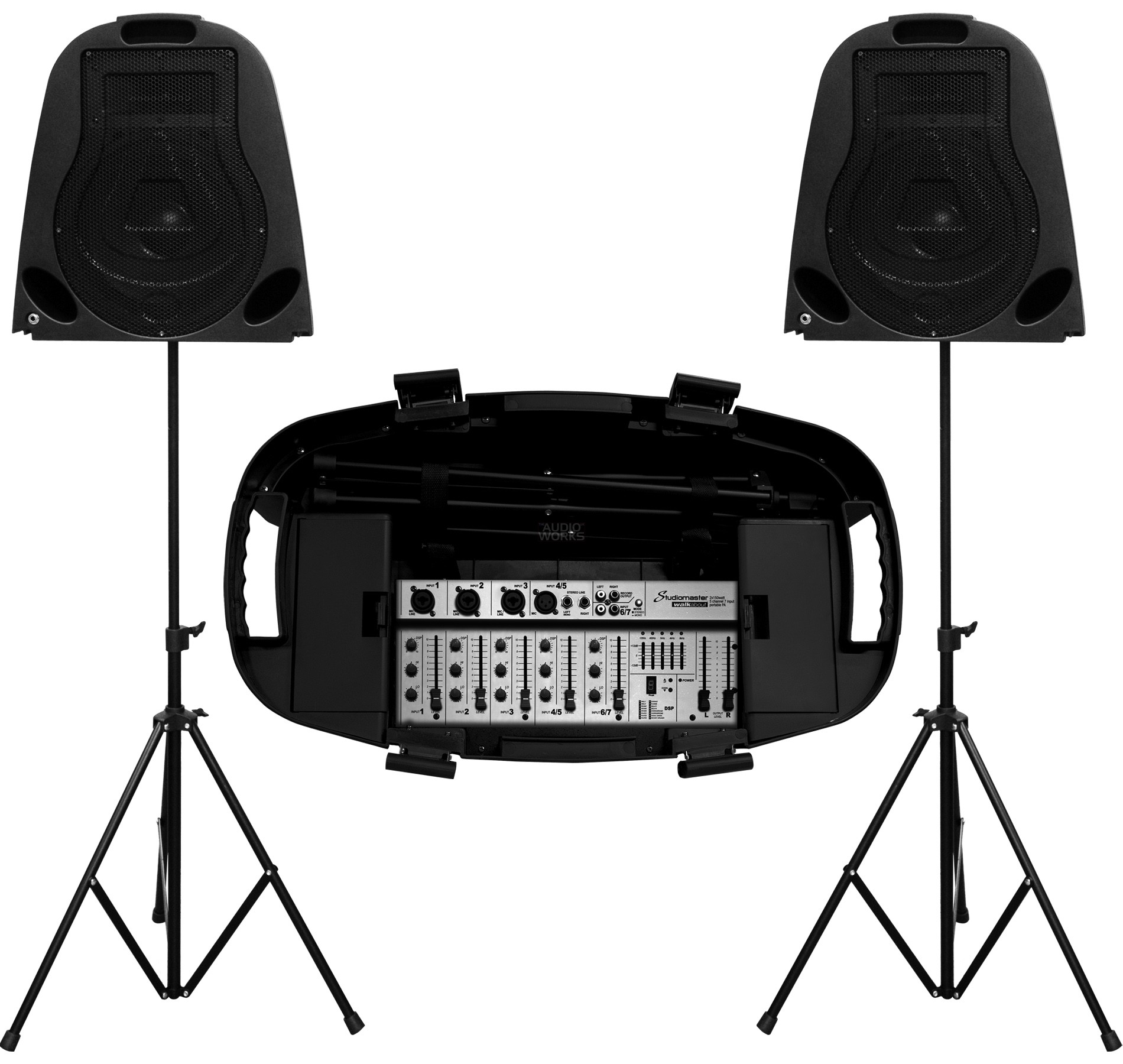 STUDIOMASTER WALKABOUT 300W PORTABLE ACTIVE PA SYSTEM