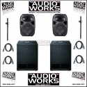 WHARFEDALE PRO TITAN 12A / SUB-A15 1400W ACTIVE PA SYSTEM
