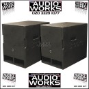 PAIR BROOKE 1118XPRO 700W PROFESSIONAL BASS / SUBWOOFERS