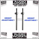PAIR HEAVY DUTY 35MM EXTENDABLE POLES
