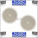 "PAIR ADASTRA 8"" 120W CEILING SPEAKERS WITH DIRECTIONAL TWEETER"