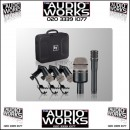 ELECTROVOICE PL DK4 PLUS 5 PIECE DRUM MICROPHONE KIT WITH CASE