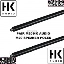 HK AUDIO M20 ADJUSTABLE THREADED POLE PAIR
