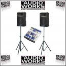 ALTO PS2A 400W PROFESSIONAL ACTIVE PA PACKAGE WITH AMX100FX MIXER