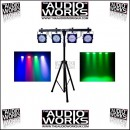 CHAUVET 4BAR LED LIGHTING SYSTEM WITH STAND & CONTROLLER