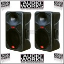 PAIR HZ HE300 300W PROFESSIONAL LOUDSPEAKERS