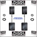 JBL PRX615M PRX618S 3200W PROFESSIONAL ACTIVE PA PACKAGE