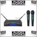 KAM KWM1960 HH DUAL WIRELESS MICROPHONE SYSTEM