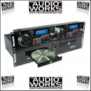 NUMARK CDN77USB PROFESSIONAL  RACK MOUNT DUAL CD PLAYER WITH USB