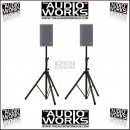 PAIR PNEUMATIC AIR CUSHION HEAVY DUTY SPEAKER STANDS