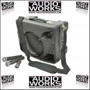 QTX DT50 50W ULTRA PORTABLE PA SYSTEM WITH TWIN WIRELESS MICS