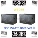 PAIR WS215 800W PORFESSIONAL BASS / SUBWOOFERS