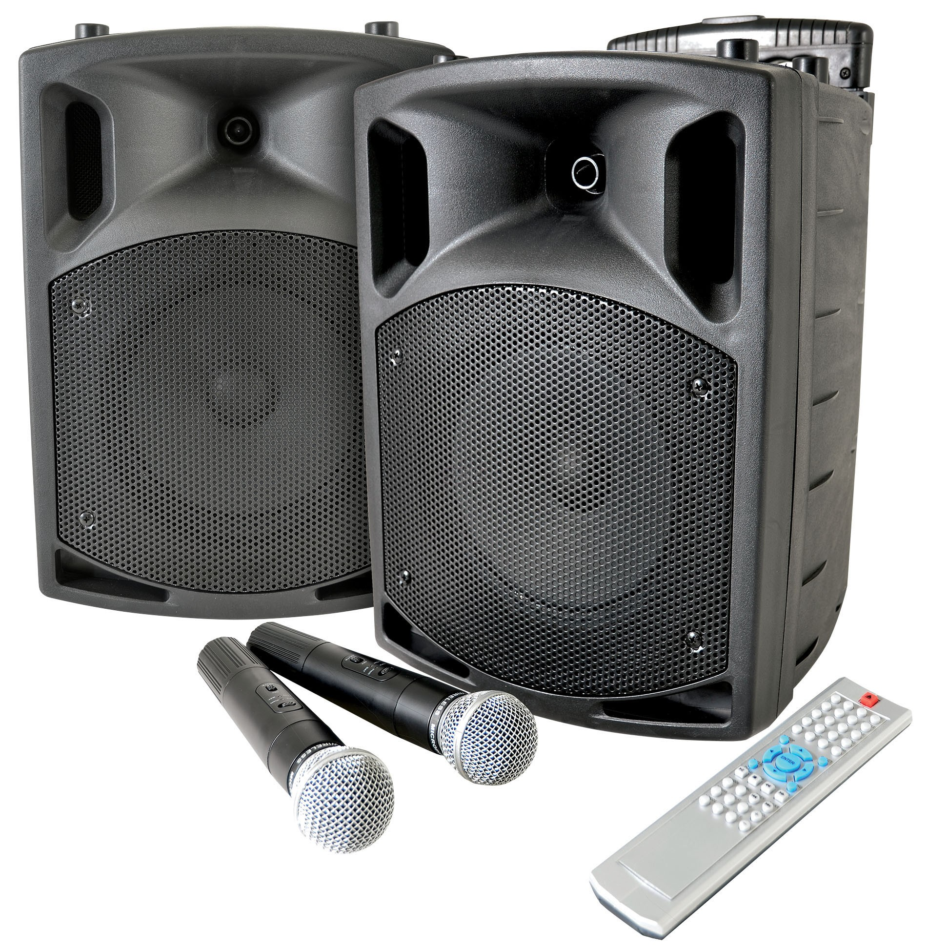 QTX QX8PAV RECHARGEABLE PA SYSTEM WITH BLUETOOTH & CD/DVD PLAYER