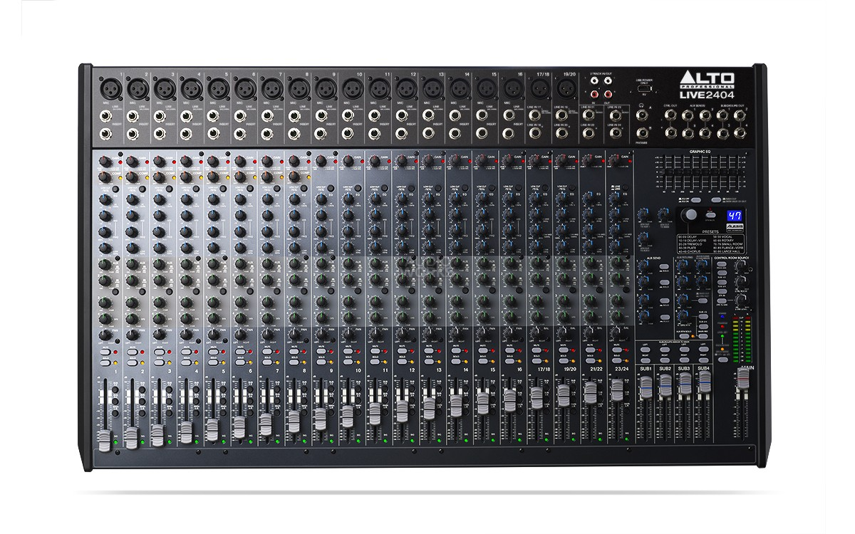 ALTO LIVE 2404 24CH 4 BUS MIXER WITH EFFECTS
