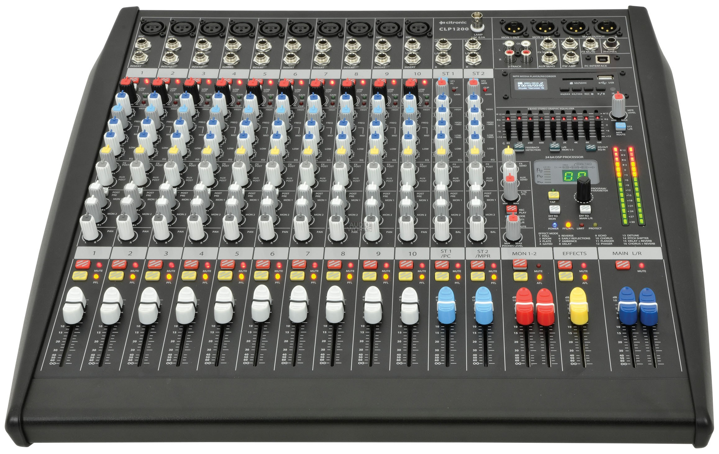 CITRONIC CLP1200 1200W PROFESSIONAL POWERED MIXER