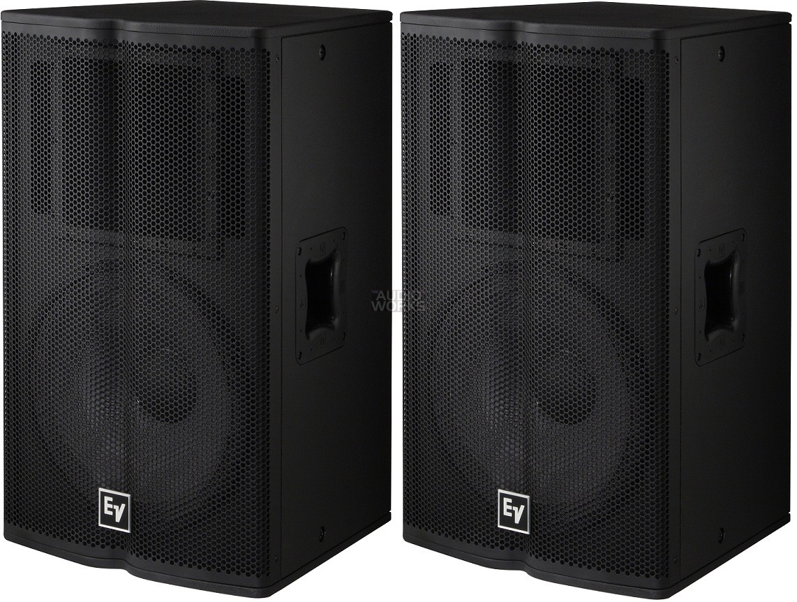 PAIR ELECTROVOICE TX1122 500W RMS PROFESSIONAL LOUDSPEAKERS