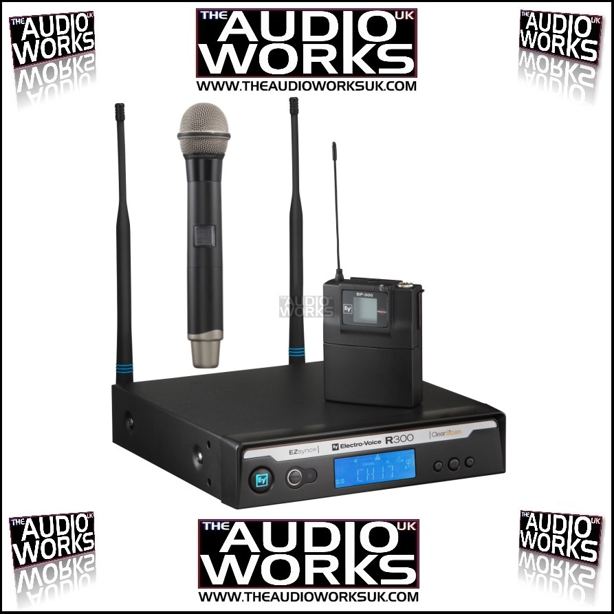 ev electrovoice r300 hd handheld wireless microphone system audio works. Black Bedroom Furniture Sets. Home Design Ideas