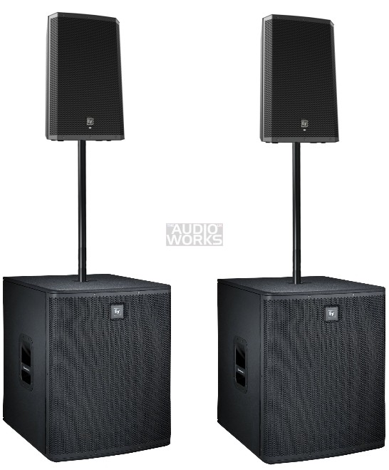 ELECTROVOICE ZLX-12P ELX118P 3400W ACTIVE PA SYSTEM