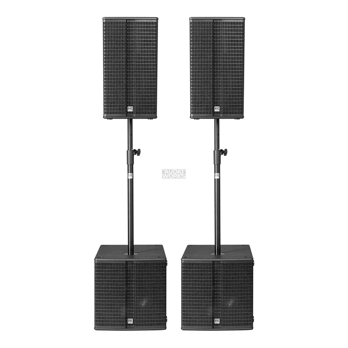 Hk Audio Linear L3 Bass Compact Venue Pack 4800w Active Pa System