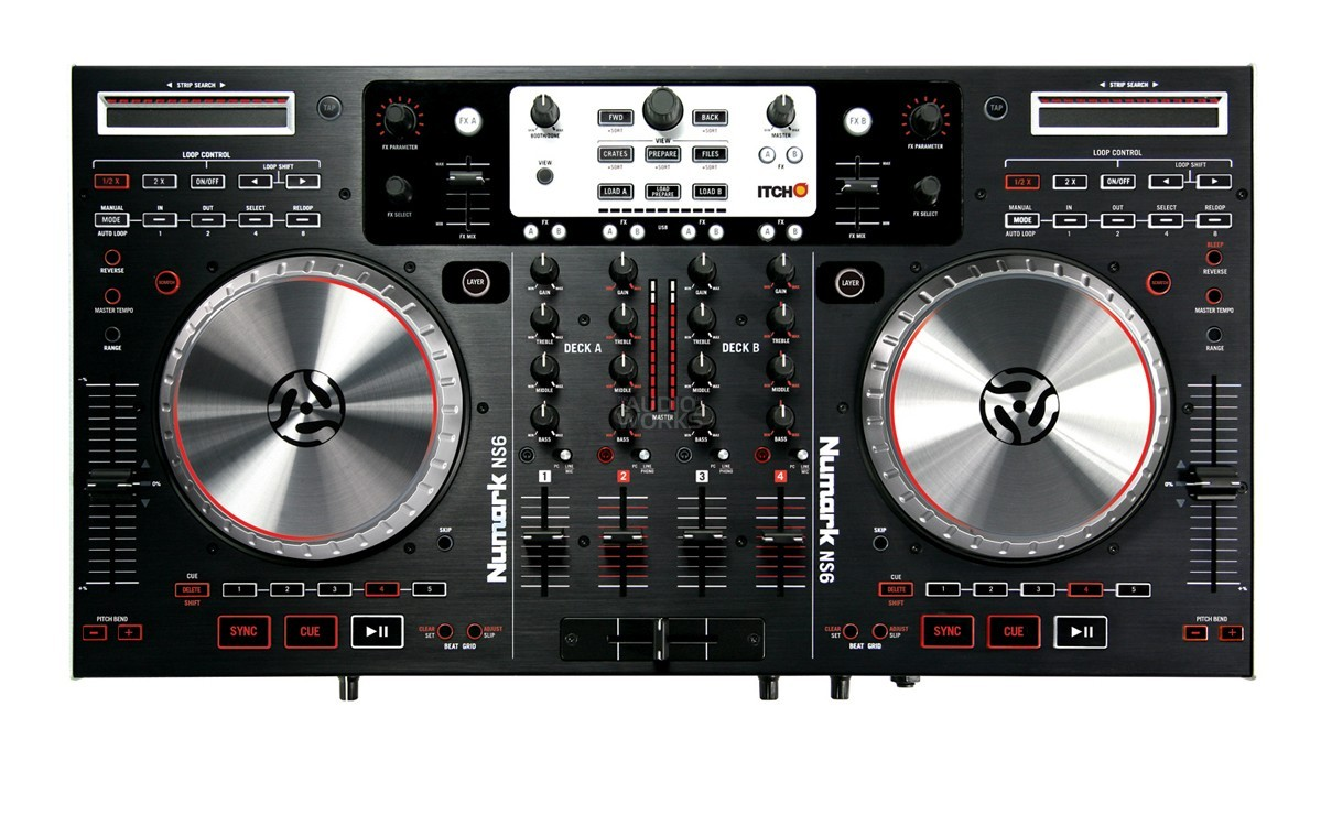 NUMARK NS6 DIGITAL DJ CONTROLLER WITH SERATO ITCH
