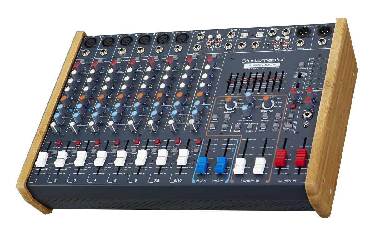 STUDIOMASTER VISION 1008 1000W PROFESSIONAL POWERED MIXER