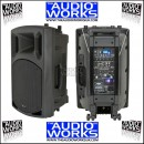 QTX QX15PA RECHARGEABLE PA SYSTEM WITH TWIN WIRELESS MICS BLUETOOTH