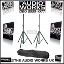 PAIR DELUXE SPEAKER STANDS AND CARRY BAG