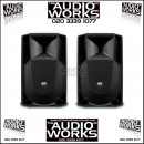 PAIR RCF ART 715 A 750W RMS PROFESSIONAL ACTIVE LOUDSPEAKERS