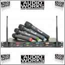CHORD QU4 WIRELESS QUAD UHF MICROPHONE SYSTEM