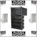 CITRONIC CLA-300 600W ACTIVE LINE ARRAY SYSTEM BLACK / WHITE