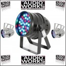 QTX FLOOR OR MOUNT 36 x 3W LED PAR64 PAR CAN BLACK / CHROME