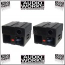 PAIR HZ SB18 (SB600) SUPERLIGHT 600W BASS SUBWOOFER
