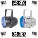 QTX PAR64 168 LED PAR CAN WITH DMX  - BLACK OR CHROME