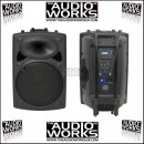 QTX QR12PA / QR15PA 200W PORTABLE PA SYSTEM WITH TWIN WIRELESS MICS