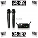 AKG WMS 40 WIRELESS DUAL VOCAL / INSTRUMENT MICROPHONE SYSTEM